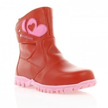 Купити Черевики дитячі для дівчаток, червоні, шкіра (010М/1 черв. Шк) Roma style за найкращими цінами