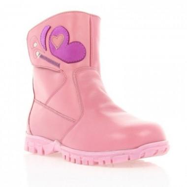 Купити Черевики дитячі для дівчаток, рожеві, шкіра (010М рож. Шк) Romastyle за найкращими цінами
