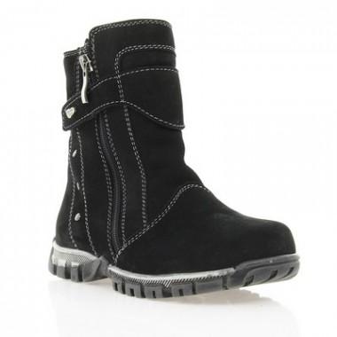 Купить Ботинки детские черные , нубук ( 011М чн. Нб ) Romastyle по лучшим ценам