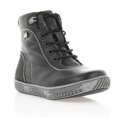 Ботинки детские черные, кожа (014М_1 чн. Шк) Roma style