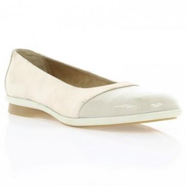 Купить Туфли детские для девочек бежевые, кожа (018М бж. Шк) Romastyle по лучшим ценам