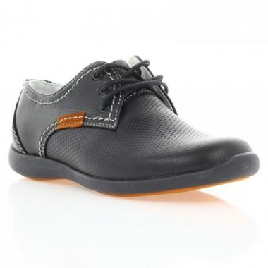 Купить Туфли детские черные , кожа ( 021М чн. Шк ) Romastyle по лучшим ценам