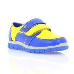 Кроссовки детские синие/желтые, кожа (023М сн+жовт. Шк) Roma style