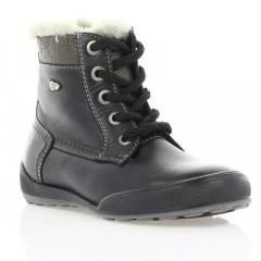 Ботинки детские, черные, кожа (033М/1 чн. Шк (шерсть)) Roma style