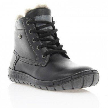 Купить Ботинки детские, черные, кожа (033М чн. Шк (шерсть)) Roma style по лучшим ценам