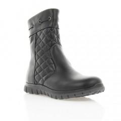 Ботинки детские черные, кожа (036М/1 чн. Шк (шерсть)) Roma Style