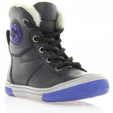 Купить Ботинки детские черные, кожа (039М чн. Фл (шерсть)) Romastyle по лучшим ценам