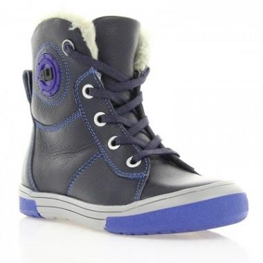 Ботинки детские, синие, кожа (039М сн. Фл (шерсть)) Roma style