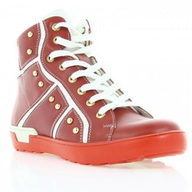 Купить Ботинки детские для девочек, красные, кожа (044М черв. Шк) Roma style по лучшим ценам