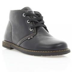 Ботинки детские, черные, кожа (057М чн. Шк) Roma style