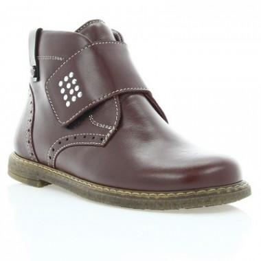Купить Ботинки детские, бордовые, кожа (058М борд. Шк) Roma style по лучшим ценам
