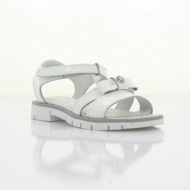 Купити Босоніжки дитячі для дівчаток, білі, шкіра (060М/1 біл. Шк) Roma style за найкращими цінами