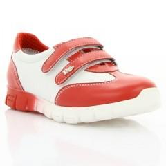 Кросівки дитячі, білі/червоні, шкіра (061М червона/біла Шк) Roma style