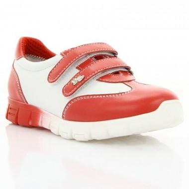 Купить Кроссовки детские, белые/красные, кожа (061М червона/біла Шк) Roma style по лучшим ценам