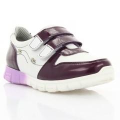 Кроссовки детские фиолетовые/белые, кожа (063М фіолет/біла Шк) Roma style