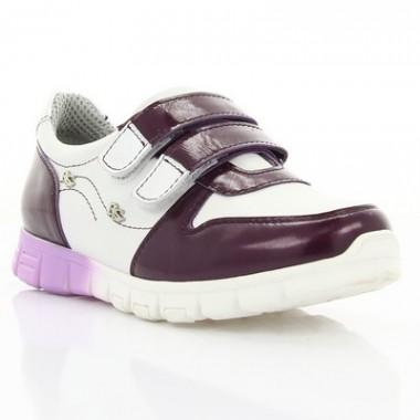 Кросівки дитячі, фіолетові/білі, шкіра (063М фіолет/біла Шк) Roma style