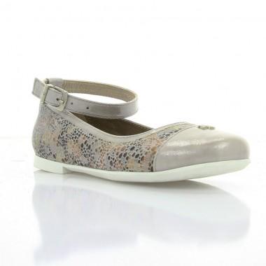 Купити Туфлі дитячі для дівчаток, капучіно, шкіра (065М капучіно Шк) Romastyle за найкращими цінами