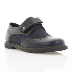 Туфли детские синие, кожа (073М сн. Шк) Roma style