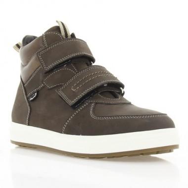 Ботинки детские коричневые, нубук (077 M кор. Нб (шерсть)) Roma style