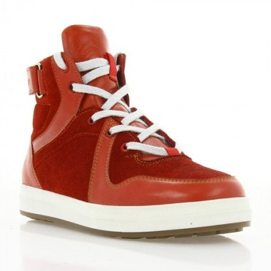 Ботинки детские красные, кожа/замша (079 M черв. Шк (шерсть)) Roma style