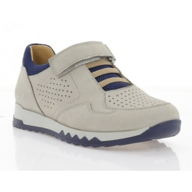 Купити Кросівки дитячі, сірі/сині, нубук (080М сір. Нб_сн) Roma style за найкращими цінами