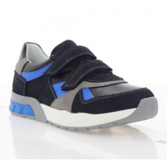 Кросівки дитячі, сині/голубі, шкіра/замш (081М чн/сн. Зш_гол) Roma style