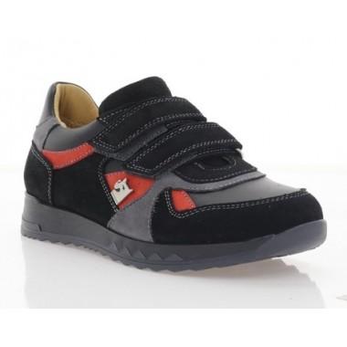 Кросівки дитячі, чорні/теракотові, замш (081М чн. Зш_теракот) Roma style