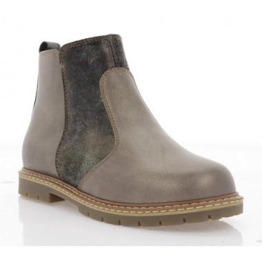 Ботинки детские бронзовые, кожа (083М бронз. Шк) Roma style