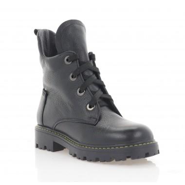 Ботинки детские черные, кожа (098М чн. Шк (шерсть)) Roma style
