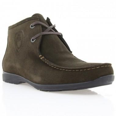 Купить Ботинки мужские коричневые, замш (1008 кор. Зш (нат. хутро)) Romastyle по лучшим ценам