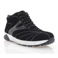 Ботинки мужские черные, замша (1023-20 чн.Зш (шерсть)) Roma style