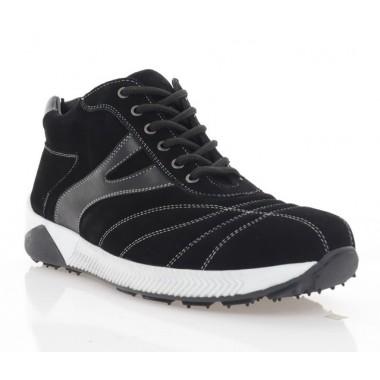 Купить Ботинки мужские черные, замша (1023-20 чн.Зш (шерсть)) Roma style по лучшим ценам