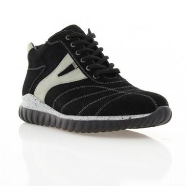 Купить Ботинки мужские черные/серые, замш (1023/16 чн/сір. Зш (шерсть)) Roma style по лучшим ценам