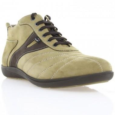 Купить Ботинки мужские бежевые, нубук (1023 бж. Нб (нат. хутро)) Roma style по лучшим ценам