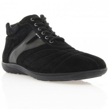 Купить Ботинки мужские черные, замш (1023 чн. Зш (нат. хутро)) Romastyle по лучшим ценам