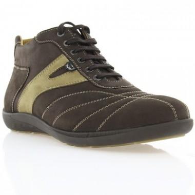 Купить Ботинки мужские коричневые, нубук (1023 кор. Нб (нат. хутро)) Romastyle по лучшим ценам