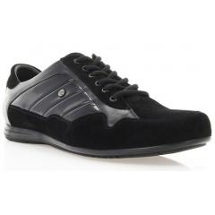Кросівки чоловічі чорні, лакована шкіра/замш (1035 чн. Лк+Зш) Roma style