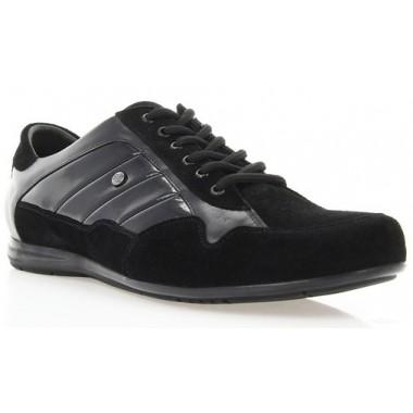 Купити Кросівки чоловічі чорні, лакована шкіра/замш (1035 чн. Лк+Зш) Roma style за найкращими цінами