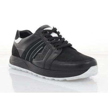 Кросівки чоловічі чорні, шкіра/нубук (1036-21 чн. Шк+Нб) Roma style