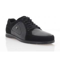 Туфлі чоловічі, чорні, шкіра/замш (5038 чн. Шк+Зш) Roma style