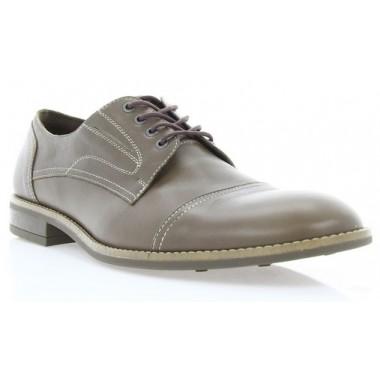 Купить Туфли мужские коричневые, кожа (1043/16 св. кор. Шк) Roma style по лучшим ценам