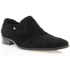 Туфли мужские черные, велюр (1050 чн. Вл) Roma style