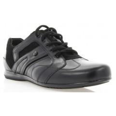 Кросівки чоловічі чорні, шкіра (1053 чн. Шк) Roma style
