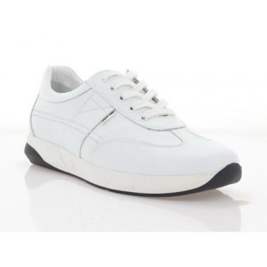 Кросівки чоловічі білі, шкіра (1068-20 біл. Шк) Roma style