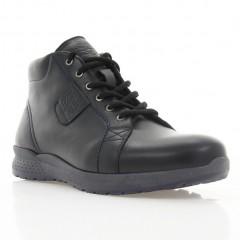 Ботинки мужские черные, кожа (1117-18 чн. Шк (шерсть)) Roma style