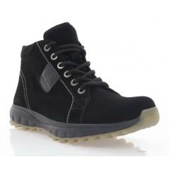 Ботинки мужские черные, замша (1117-20 чн.Зш_бж (шер)) Roma style
