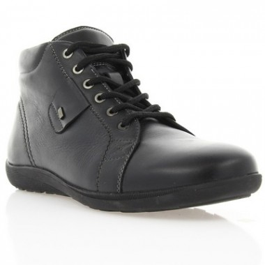 Купить Ботинки мужские черные, кожа (1117/15 чн. Шк (шерсть)) Roma style по лучшим ценам