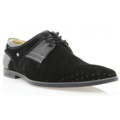 Туфли мужские черные, замш (1145D чн. Зш) Roma style