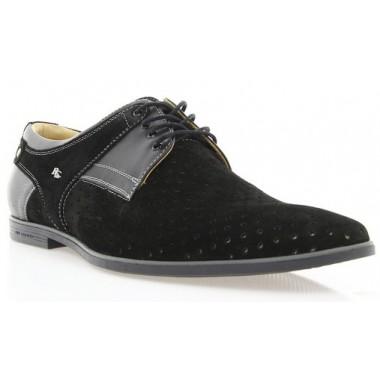 Купити Туфлі чоловічі чорні, замш (1145D чн. Зш) Romastyle за найкращими цінами