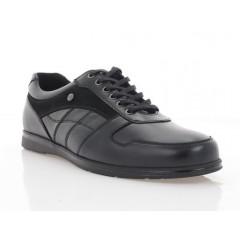 Туфли мужские черные, кожа (1157-21 чн. Шк) Roma style